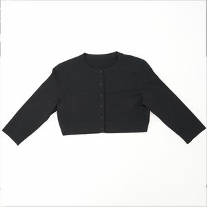 Button Cropped Viscose Cardigan 3/4 Sleeve